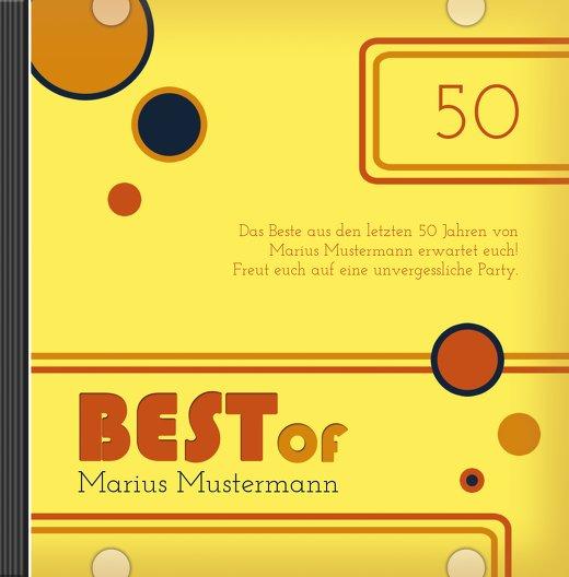 Ansicht 3 - Geburtstagseinladung Best Of 50 Foto
