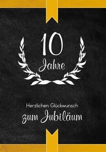 Ansicht 3 - Jubiläumskarte Lorbeerkranz