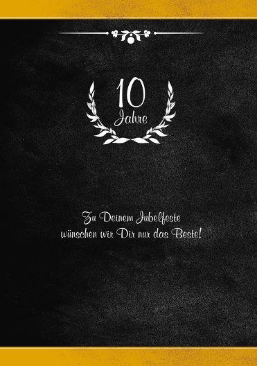 Ansicht 4 - Jubiläumskarte Lorbeerkranz