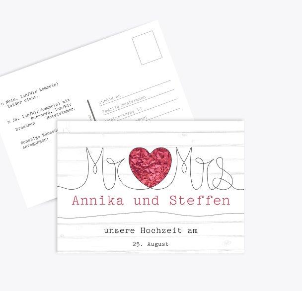 Antwortkarte Mr&Mrs