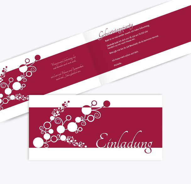 Einladungskarte Bubble Limb