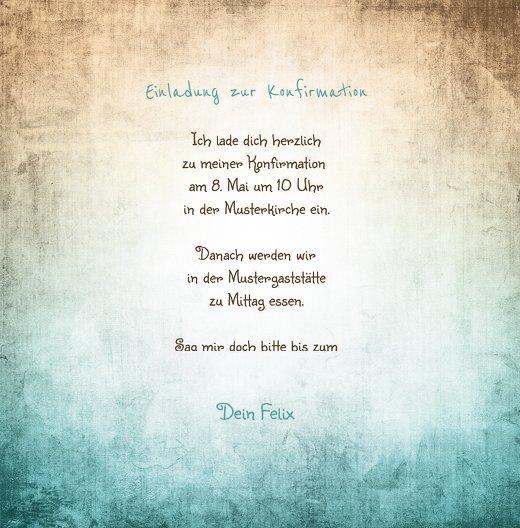 Ansicht 5 - Konfirmation Einladung grunge Engel