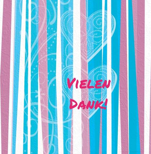 Ansicht 3 - Baby Dankeskarte hearts and stripes