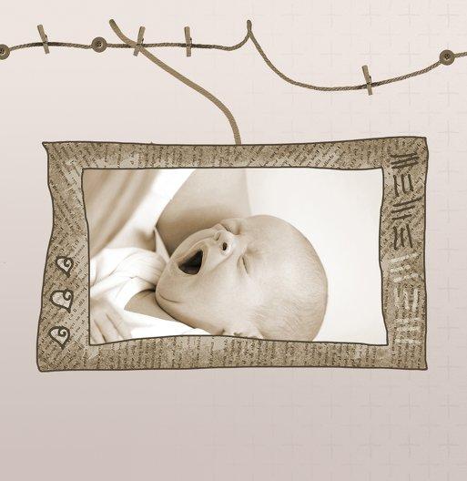 Ansicht 6 - Baby Dankeskarte Wäscheleine