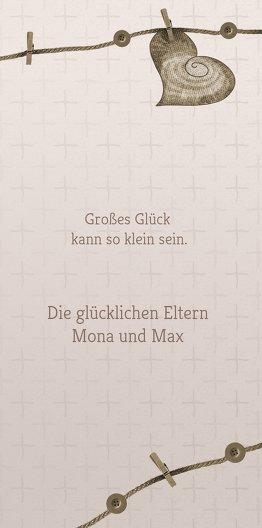Ansicht 7 - Baby Dankeskarte Wäscheleine