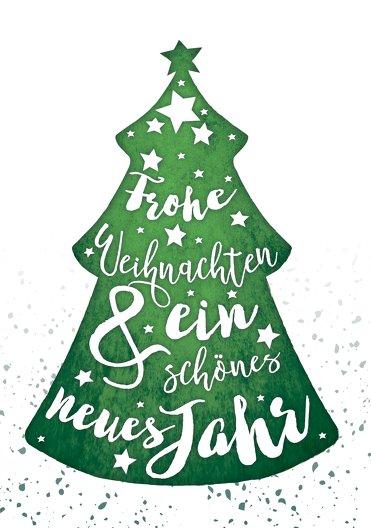 Ansicht 3 - Weihnachtseinladung Letterbaum
