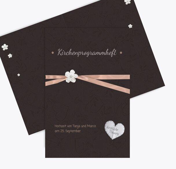Hochzeit Kirchenheft Umschlag sanfte Blüte