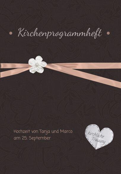 Ansicht 3 - Hochzeit Kirchenheft Umschlag sanfte Blüte