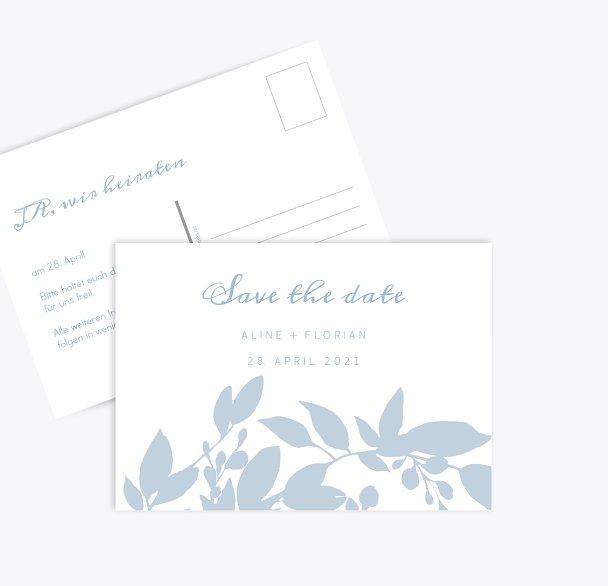 Hochzeit Save-the-Date Blauregen