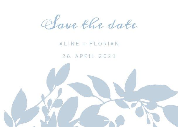 Ansicht 2 - Hochzeit Save-the-Date Blauregen