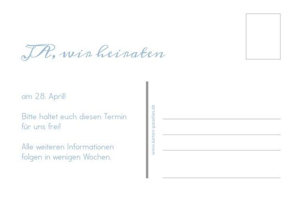 Ansicht 3 - Hochzeit Save-the-Date Blauregen
