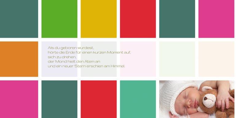 Ansicht 4 - Babykarte bunte Würfel