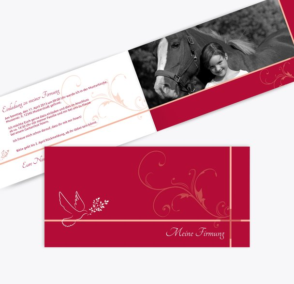 Firmkarte floral