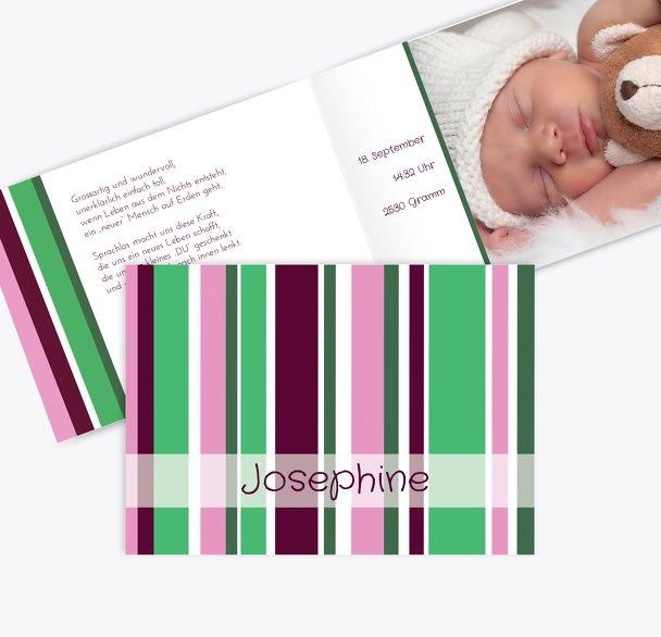 Geburtskarte Zweifarbklang