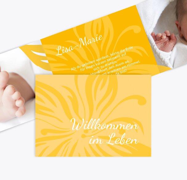 Babykarte Blume