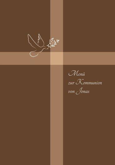 Ansicht 3 - Kommunion Menükarte Glaubensbote