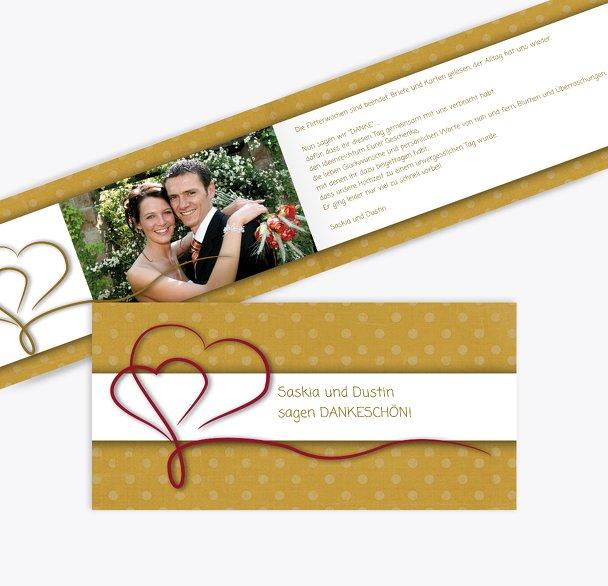 Hochzeit Dankeskarte Gepunktet