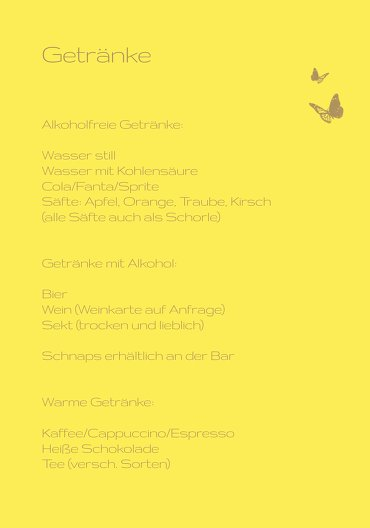 Ansicht 4 - Konfirmation Menükarte Butterfly