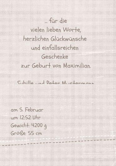 Ansicht 5 - Baby Dankeskarte Schildi