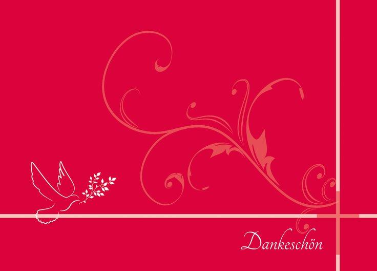 Ansicht 2 - Kommunion Dankeskarte floral