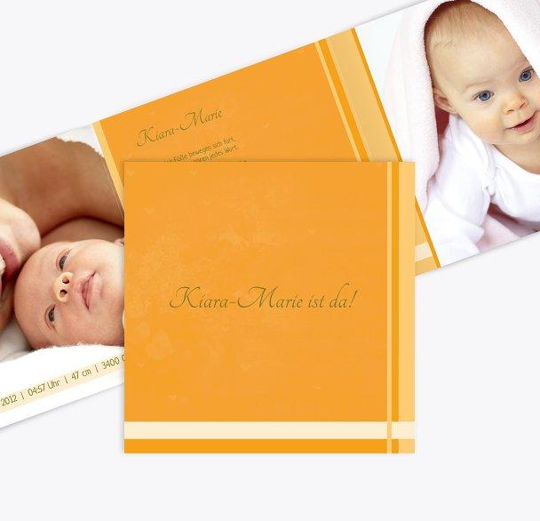 Babykarte klangvolle Streifen
