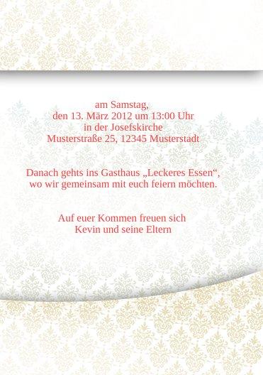 Ansicht 5 - Taufkarte Floral Rapport
