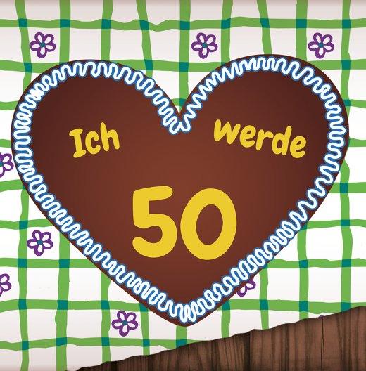 Ansicht 3 - Einladung Lebkuchenherz 50 Foto