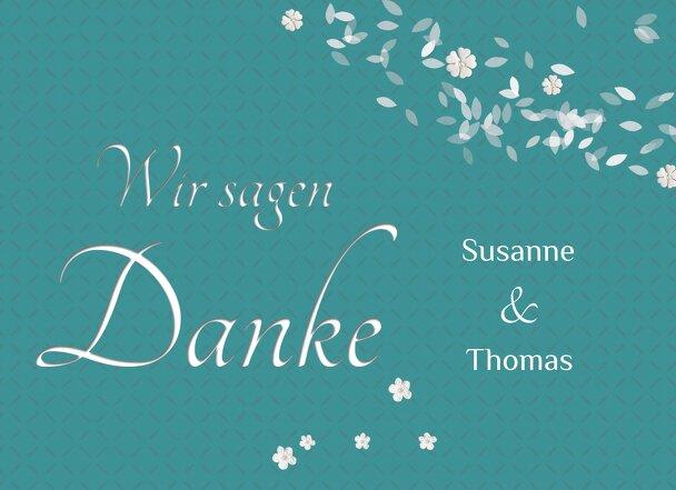 Ansicht 3 - Hochzeit Dankeskarte romantic flower