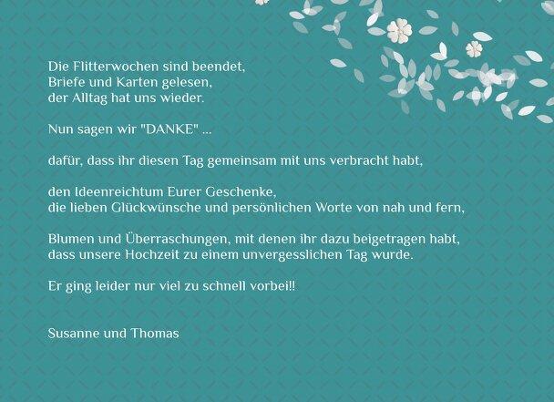 Ansicht 5 - Hochzeit Dankeskarte romantic flower