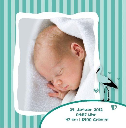 Ansicht 7 - Geburtskarte Harmonie