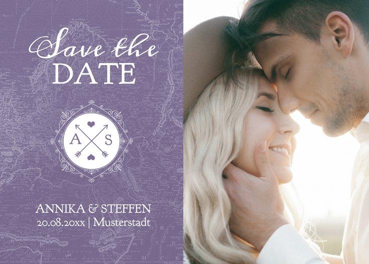 Ansicht 2 - Save-the-Date Hochzeitspass