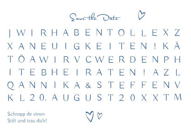 Ansicht 2 - Hochzeit Save-the-Date Buchstabenrätsel