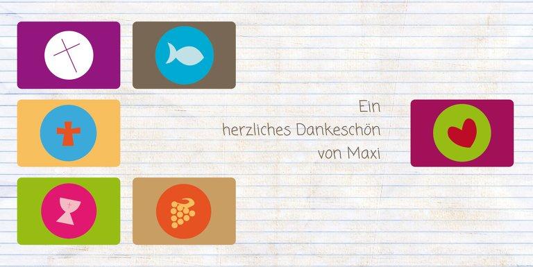 Ansicht 3 - Firmung Dankeskarte buttons