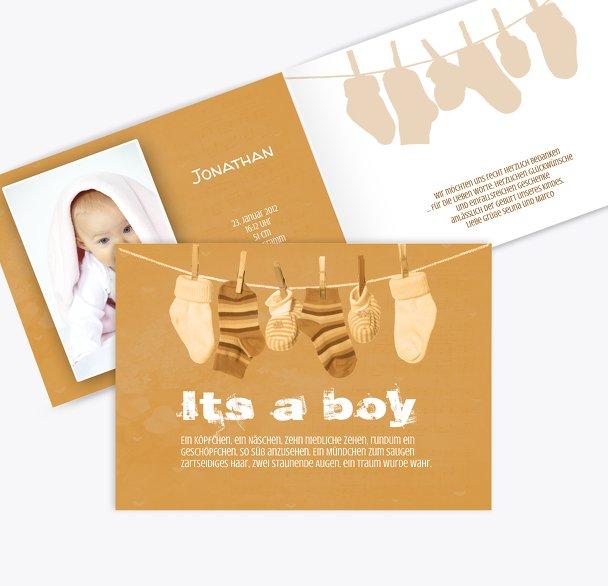 Baby Dankeskarte It's a boy