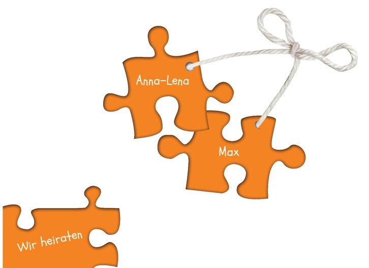 Ansicht 4 - Hochzeit Einladung Puzzleteile 2