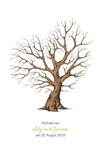 Ansicht 2 - Fingerabdruck Leinwand Herzbaum