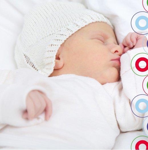 Ansicht 5 - Geburtskarte Zwillinge bunt