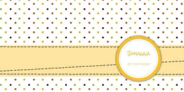 Ansicht 3 - Babykarte Pünktchen