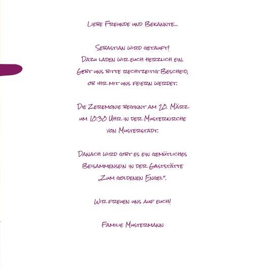 Ansicht 5 - Taufkarte Kreuzrahmen