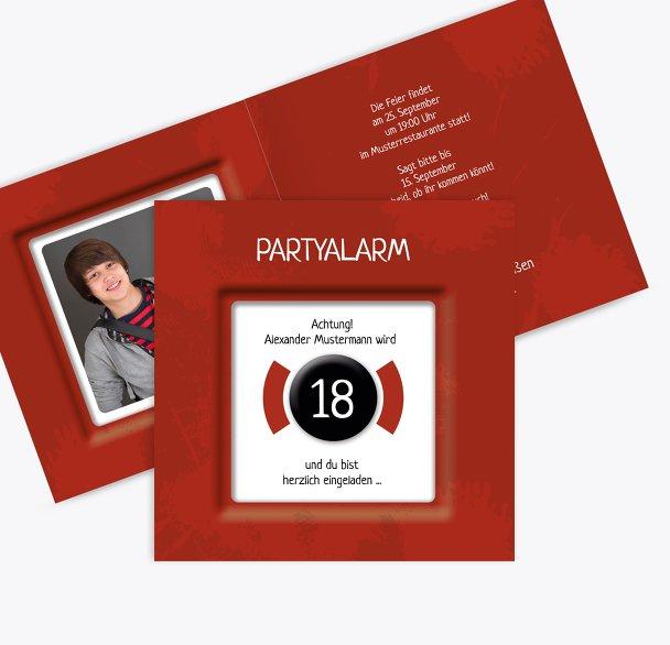 Geburtstagskarte Partyalarm 18 Foto
