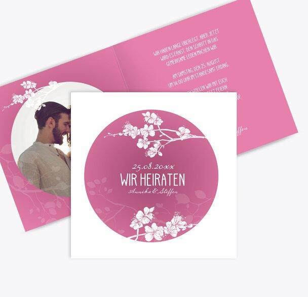 Hochzeit Einladung Cherry Blossom
