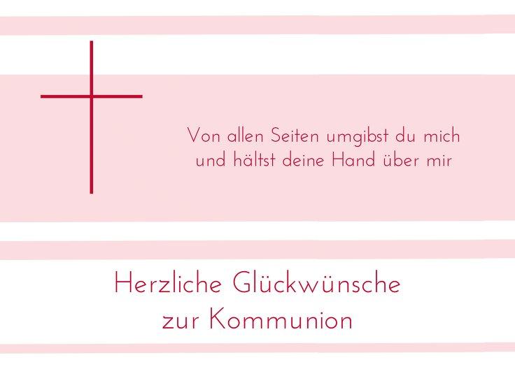 Ansicht 2 - Glückwunschkarte zur Kommunion Kreuz