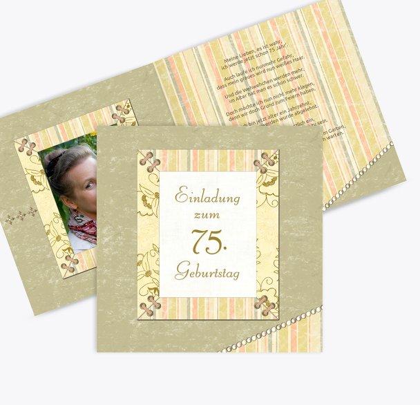 Geburtstagseinladung Nostalgie 75 Foto