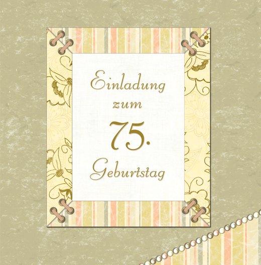 Ansicht 3 - Geburtstagseinladung Nostalgie 75 Foto