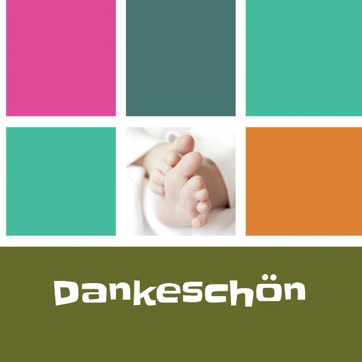 Ansicht 4 - Baby Dankeskarte bunte Würfel