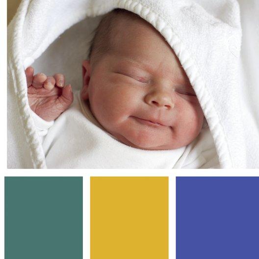 Ansicht 7 - Baby Dankeskarte bunte Würfel