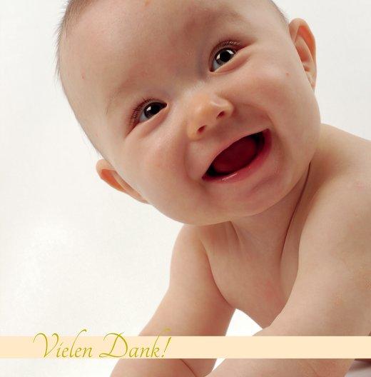 Ansicht 3 - Baby Dankeskarte klangvolle Streifen
