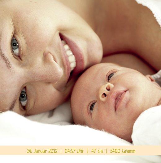 Ansicht 4 - Baby Dankeskarte klangvolle Streifen