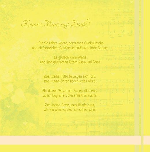Ansicht 5 - Baby Dankeskarte klangvolle Streifen