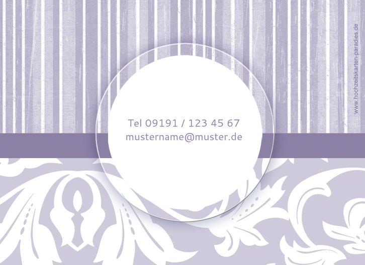 Ansicht 2 - Hochzeit Dankeskarte Streifenzauber